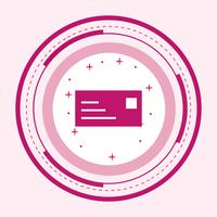 Design dell'icona della carta d'identità vettore