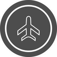 Disegno dell'icona dell'aeroplano