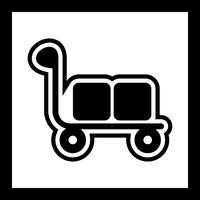 disegno dell'icona del carrello vettore