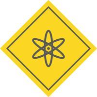 disegno dell'icona dell'atomo vettore