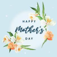 Giglio, peonia e magnolia Fioritura acquerello acquerelli di carte di nozze fiore floreale, invito salva la data, matrimonio celebrare il matrimonio, disegno di ringraziamento illustrazione.