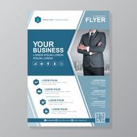 Modello di copertina business a4 e icona piatta per una progettazione di brochure e brochure, flyer, banner, decorazione di volantini per la stampa e presentazione illustrazione vettoriale
