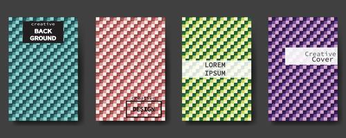 Set di copertine astratte moderne. Priorità bassa variopinta del manifesto, disegno di vettore. vettore