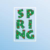 Fiori di primavera. Disegno vettoriale ESP10.