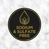 Sodio e solfato Icona gratuita per etichette di shampoo, maschera, balsamo e altri prodotti per capelli. vettore