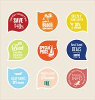badge di viaggio vettore