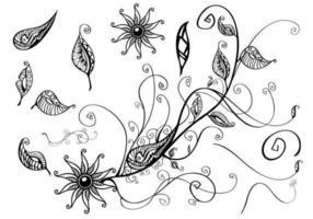 Pacchetto vettoriale ramo floreale