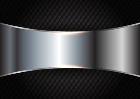Metallo spazzolato su sfondo scuro trama vettore