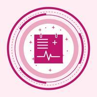 Disegno dell'icona del grafico medico