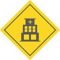 Ospedale Icon Design vettore