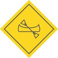 disegno dell'icona della canoa