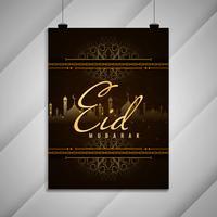 Disegno astratto dell'opuscolo festival Eid Mubarak