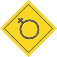 Disegno dell'icona femminile vettore