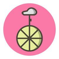 Disegno dell'icona del monociclo vettore