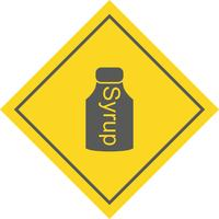 Sciroppo Icon Design vettore