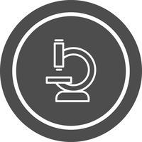 Disegno dell'icona del microscopio