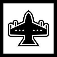 disegno dell'icona del jet da combattimento