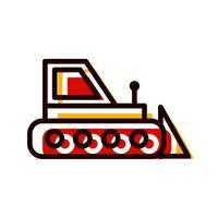 disegno dell'icona di bulldozer