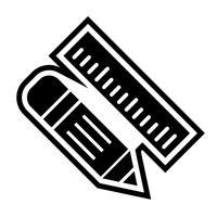 Disegno dell'icona matita e righello
