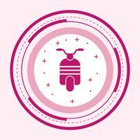 disegno dell'icona dello scooter