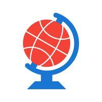 Disegno dell'icona del globo