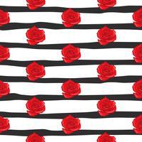 modello senza cuciture rosa del fiore, modello senza cuciture della rosa floreale di vettore, fondo del fiore