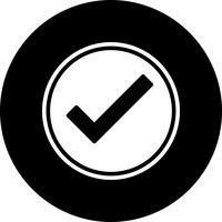 Disegno dell'icona valido vettore