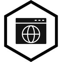 disegno dell'icona del browser vettore