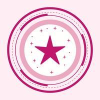 disegno dell'icona della stella vettore