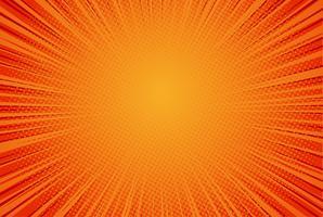 Fondo rosso di Pop art, velocità retro illustrazione comica dei raggi di vettore -