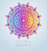 Il vettore mandala ornamentale ha ispirato l'arte etnica, Paisley indiano modellato. Illustrazione disegnata a mano Elemento di invito Tatuaggio, astrologia, alchimia, boho e simbolo magico.