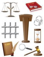 illustrazione stabilita di vettore delle icone di legge