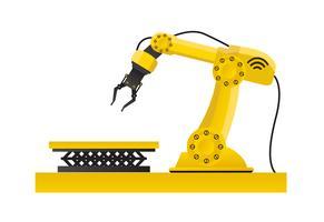 Braccio meccanico a mano. Tecnologia industriale e fabbrica