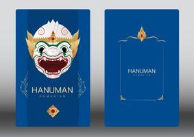 Hanuman, Ramayana, Thailand Classic Mask Dance, carta di lusso vettore