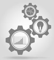 illustrazione di vettore di concetto del meccanismo di ingranaggio di affari