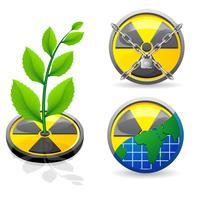 il segno è un'illustrazione di vettore di ecologia e di radiazione