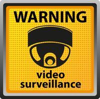 segnale di avvertimento della telecamera di sorveglianza
