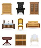illustrazione vettoriale di icone mobili