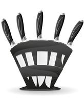 set di coltelli per l'illustrazione vettoriale di cucina