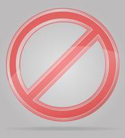 illustrazione di vettore del segno di divieto trasparente