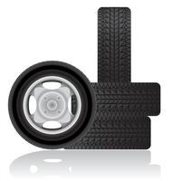 illustrazione vettoriale di auto ruota