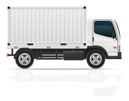 piccolo camion per il trasporto di illustrazione vettoriale carico