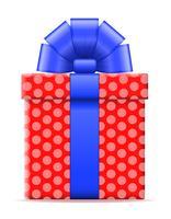 confezione regalo con un'illustrazione vettoriale di prua