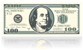 una nota è di cento dollari vettore