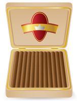 sigari in un'illustrazione di vettore di scatola