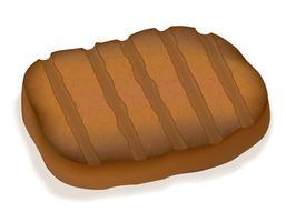 illustrazione vettoriale di bistecca fritta