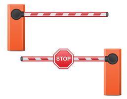 illustrazione vettoriale di barriera stradale