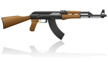 illustrazione vettoriale di macchina automatica AK-47 Kalashnikov