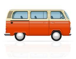 illustrazione vettoriale retrò minivan