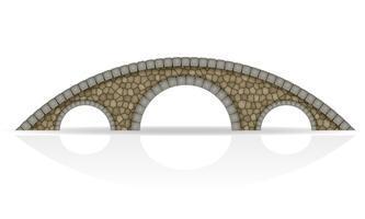 illustrazione di stock di ponte di pietra